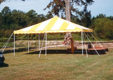 20 x 20 White & Yellow Canopy