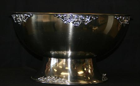 3 Gallon Silver Punch Bowl