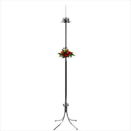 Aisle Single Light Freestanding Silver Candelabra