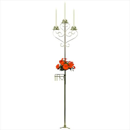 Aisle Triple Light, Brass Candelabra