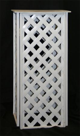 Plant Stand, 24″ White Lattice