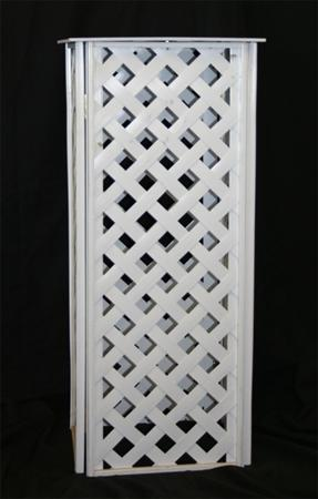 Plant Stand, 30″ White Lattice