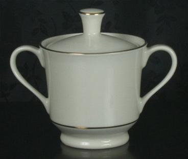 Sugar Bowl White w/ Silver Trim