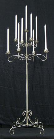 Tree Silver Candelabra , 9 Light