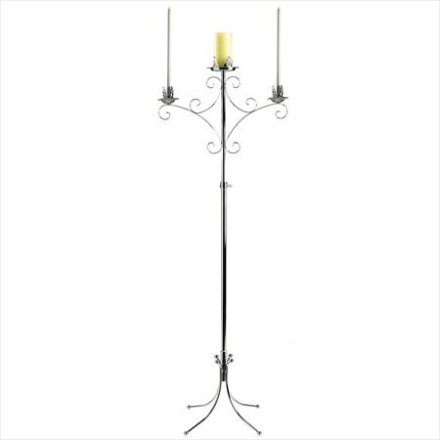 Unity Free Standing Candelabra, Silver