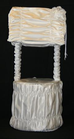 Wishing Well with Satin White Card Holder