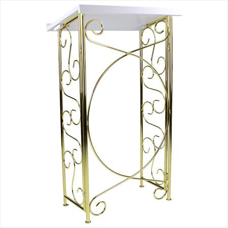Wrought Iron Brass Podium