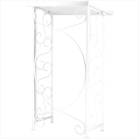 Wrought Iron White Podium