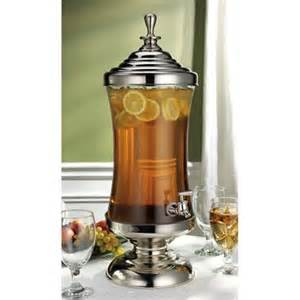 Beverage Dispenser-2.5 Gallon Glass and Silver