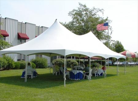 20 x 40 Frame White Canopy - Party Plus Mount Pleasant Rental ...