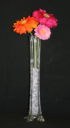24″ Clear Glass Vase