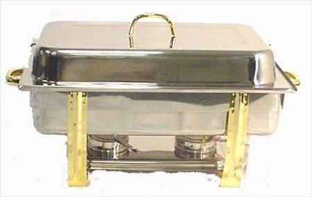 8 Quart Chafer with Gold Trim