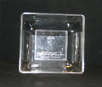 8″ Square Bowl Clear