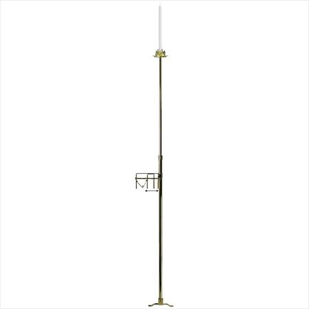 Aisle Single Light, Brass Candelabra