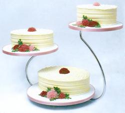 Cake Stand, Swan Silver
