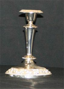 Candlestick Silver Tall