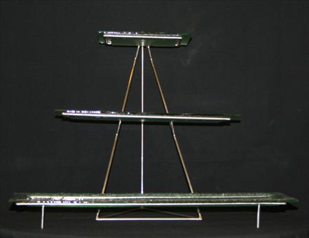Clear Glass Tiered Tray