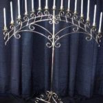 Fan-15-Candles-Silver-Candelabra