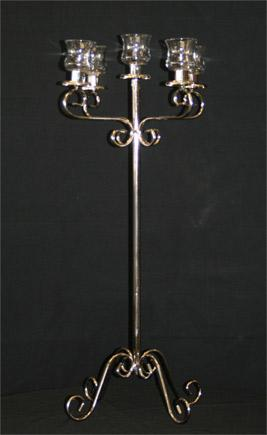 Silver 5 Light Tall without flower bowl