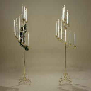 Spiral 15 Candles Brass Candelabra