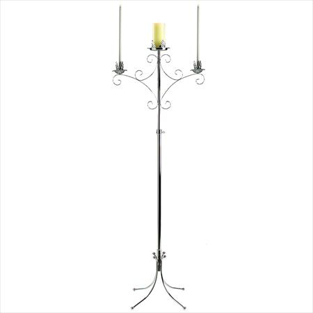 Unity-Free-Standing-Candelabra-Silver