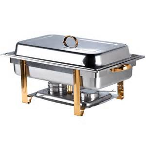8 qt Chafer with Gold Trim
