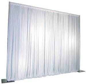 Backdrop-Pipe and Drape White